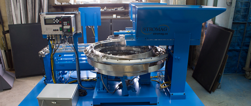 Custom Vibratory Bowl Feed Systems by STROMAG